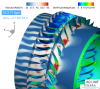 simulations of the low-speed compressor CME2